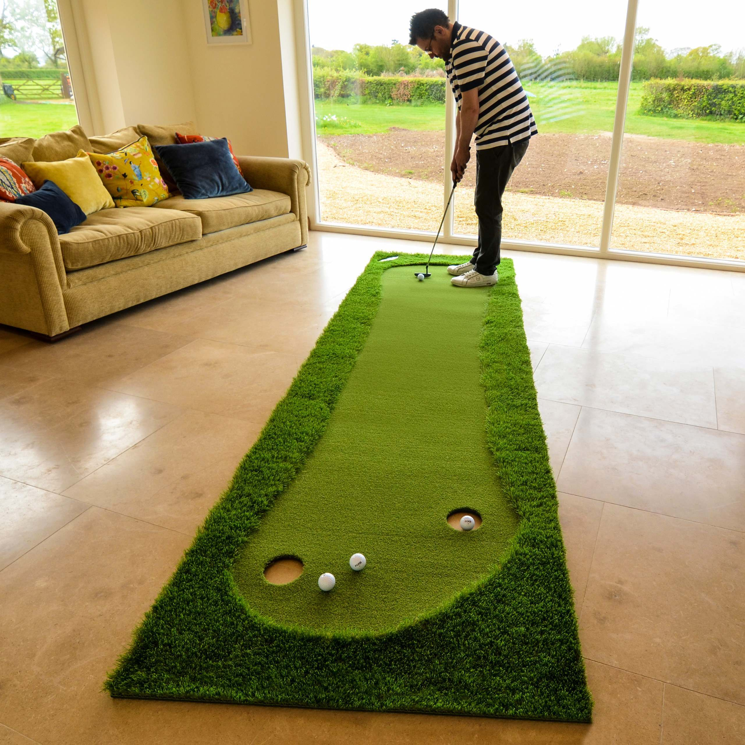 home stroke indoors greens practise mat aids and mats putting pin forb golf